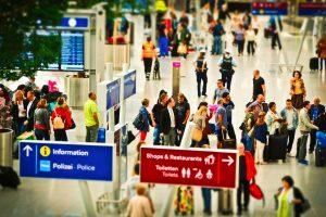 Bundespolzei am Flughafen
